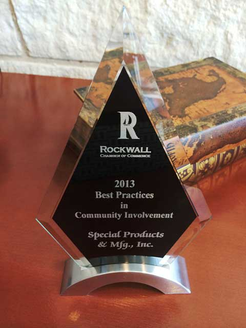 Awards - Special Products & Manufacturing - Rockwall (DFW) TX